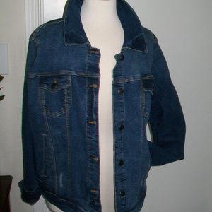 Torrid Jean Denim Jacket Size 3